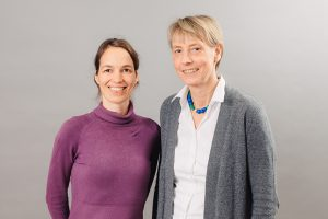 Here is supposed to be a picture of Nicole Reisch and Angela Hübner, project A04, CRC/TRR 205.